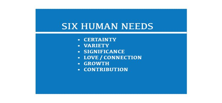 The 6 Human Needs for Fulfillment